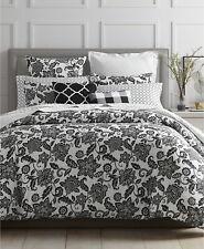 Charter Club Damask Designs Black & White Floral Flower King Comforter Sham Set