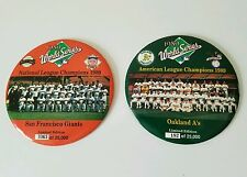 Oakland A's San Francisco Giants Photo Large Button 1989 World Series Earthquake
