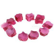 1000 Rosenblätter aus Seide Rosa 5 x 4,5cm NEU