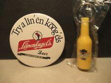 Leinenkugels Beer Pin & Key Chain Free Usa Shipping