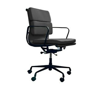Carter Soft Pad Black Office Chair with Black Frame