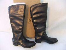 BORN Massari Black Leather Fashion  Knee High Boot Size 8 EU 39 NIB $210
