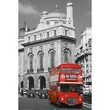 "LONDON - REGENT ST - ROUTEMASTER DOUBLEDECK BUS 91 x 61 MM 36 x 24"" ART POSTER"