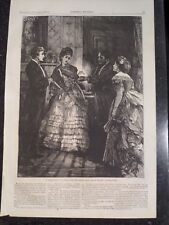 Victorian Era Romance Proper Educate In The Drawing Room Harper's Weekly 1872
