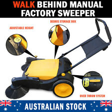 Industrial Manual Walk Behind Floor Factory Sweeper 40L Capacity Storage