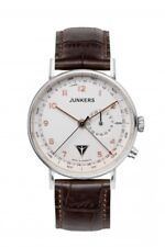 JUNKERS Uhr Eisvogel F13 6734-4 Herren Armbanduhr mit Kalender Leder Band braun