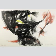 Gerhard Fietz: Abstrakte Komposition. Farblithographie 1954.