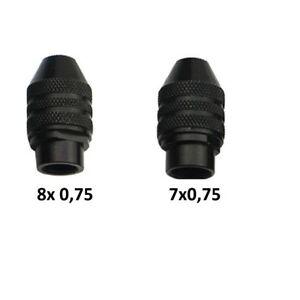 L128/  Schnellspann Bohrfutter Spannzange 8x0,75 / 7x0,75 NEU für Dremel Proxxo