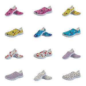 Womens Medical care Print Shoes Lightweight Sneakers Comfy Mesh Shoes Sneaker