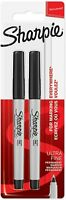 Permanent MARKER Pens Black Point Sharpie ULTRA Fine 2 Count FREE post+ delivery