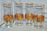 4er Satz Biergläser, Rastal 0,25l, griechischer Dekor, Gold,Schlegel Bier Bochum