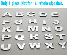 1 Piece Individual Car Auto 3D Chrome Letters/Numbers Emblem Badge Decal Sticker