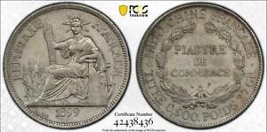 1899-A FRENCH INDO-CHINA PIASTRE -LEC-281 PCGS AU DETAILS
