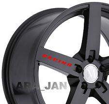4 - RACING Wheels Decal Sport Vinyl rims wheel sticker logo RED