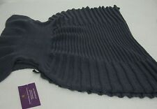Woman Winter Scarf Blue or Gray Knitted Polyester Shrug Scarf New