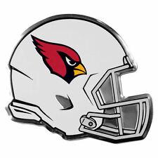 "NFL Licensed Arizona Cardinals Helmet Premium Aluminum Emblem 4""x3.5"" New"