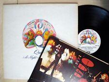 Queen una noche a la ópera + Interior ♫ ♫ escuchar en relieve Reino Unido Lp EMTC 103 1975 EX/casi como nuevo