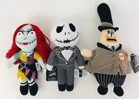 "Nightmare Before Christmas Disney Jack Sally Mayor 9"" Dolls Halloween Set Of 3"