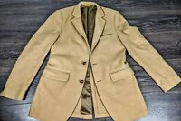 VINTAGE  1960s Mens Brown Wool Classic Sport Coat Blazer Jacket SIZE 40L