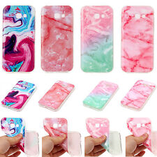For Various Series Phone Pink Marble Pattern Soft TPU Case Back Cover Skin YH