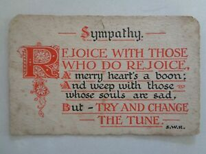 Vintage 'Sympathy' Postcard 'E.W.Savory' Series No.541