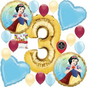 Snow White Party Supplies Balloon Decoration Bouquet Bundle for 3rd Birthday