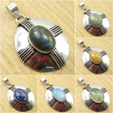 Choose Your Stone !! 925 Silver Plated LABRADORITE & Other Gemstone Pendant