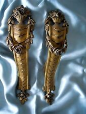 2 LARGES ANTIQUES 19th-century FRENCH TIE BACKS  BRONZE  CURTAINS