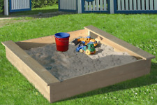 LoggyLand Sandkasten Holz Sandbox Sandkiste Buddelkiste Sitzbank Kinder
