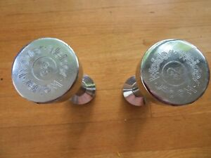 Vintage Pair Weider Chrome Dumbbell Hand Weights 3lbs Adjustable Ends Screw Off