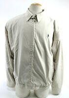 Polo Golf Ralph Lauren Men's Zip Up Jacket Size XL Beige Plaid Lined