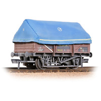 Bachmann 33-085A OO Gauge BR 5 Plank China Clay Wagon w Hood