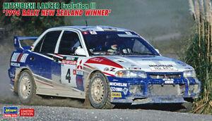 Hasegawa 1/24 Mitsubishi Lancer Evolution III 1996 Rally New Zealand Winner