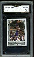 2019 Panini Stickers #7 HL LeBron James Graded GMA 10 GEM MINT ~ PSA 10?