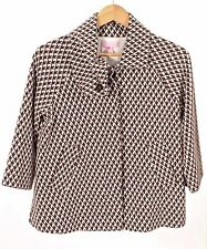 Lilly Pulitzer -Distinctive Brown/White Shawl Collar Jacket  - Small