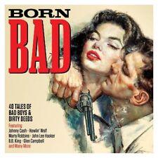 BORN BAD - JOHNNY CASH, HOWLIN WOLF, MARTY ROBBINS, B,B, KING - 2 CD NEUF