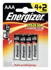 ENERGIZER MAX 4+2 AAA LR03 PowerSeal Pilas Alcalinas para Audio