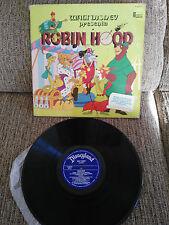 "ROBIN HOOD WALT DISNEY LP VINYL VINILO 12"" 1974 G+/VG SPANISH EDITION HL 080-20"