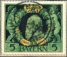 "BAVIÈRE / BAVARIA / BAYERN - 1911 (10 June)  ""WUERZBURG 4"" date stamp on Mi.92B"