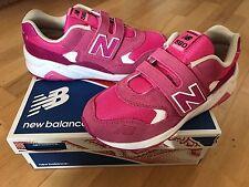 NEW Balance 580 Scarpe da ginnastica ragazze più vecchi, Rosa/Bianco-Taglia 2.5