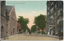 View on State Street in Watertown NY Postcard