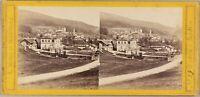 ALLEMAGNE Wildbad Würtemberg Ville à identifier Photo Stereo L. Meder ca 1860