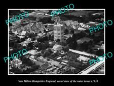 OLD LARGE HISTORIC PHOTO OF NEW MILTON HAMPSHIRE ENGLAND, THE WATER TOWER c1930