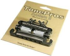 TonePros LPBM04 Locking Standard Tune-o-matic Bridge & Tailpiece Set BLACK