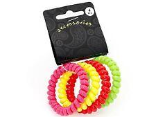 Neon Telephone Cord Hair Coil Scrunchie Hair Bobbles Hair Band
