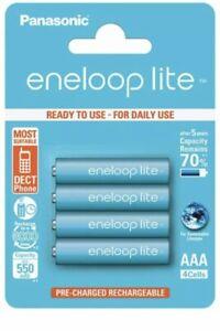 NEW 4 Panasonic Eneloop Lite AAA HR03 NiMH Rechargeable AAA Batteries 550mAh New