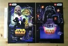 LEGO STAR WARS Movie Posters Episode 5 & 6 V VI Empire Strikes Back & Jedi x2