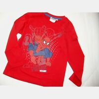 MARVEL t-shirt 4 6 8 ou 10 ans  SPIDERMAN  rouge manches longues NEUF