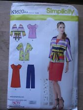 pantaloni. Tunica NEW Look Donna facile Sewing Pattern 6482 Jersey Maglia Vestito