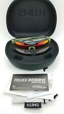 NEW Smith Pivlock Sunglasses NRA Green Black Red Mirror and Rose 2 Lens Set $259